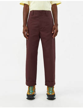 Astym Twill Trouser In Chestnut Brown by Acne Studios Acne Studios