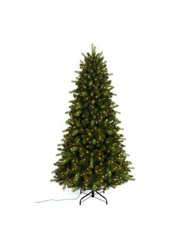 7.5 Ft. Pre Lit Braxton Color Changing 8 Function Artificial Christmas Tree With 700 Micro Dot Led Lights by Home Accents Holiday