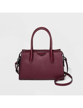 Zip Closure Satchel Handbag   A New Day™ by A New Day