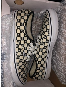 Supreme X Authentic Pro Checkered Black by Supreme  ×  Vans  ×