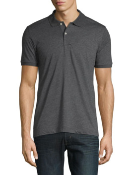 Heathered Cotton Blend Polo by Tommy Hilfiger