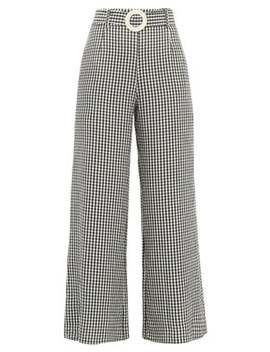 Gingham Poplin Palazzo Trousers by Solid & Striped