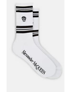 Skull Knit Cotton Blend Mid Calf Socks by Alexander Mc Queen