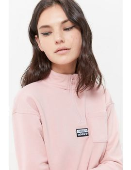 Adidas Quilted Quarter Zip Sweatshirt by Adidas