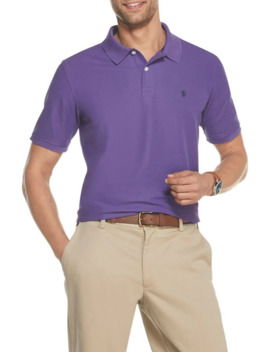 Logo Cotton Blend Polo by Izod