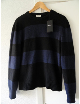 Saint Laurent Luxurious Striped Knit Sweater Vintage Finish by Saint Laurent Paris  ×