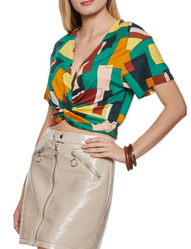 Twist Front Printed Top by Rainbow