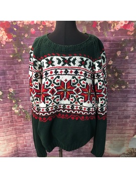 Vintage Tommy Hilfiger Hand Knit Christmas Sweater by Tommy Hilfiger