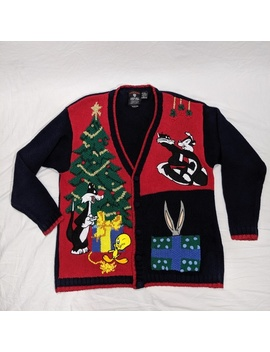 Warner Bros Vintage Christmas Sweater Looney Tune by Warner Bros.