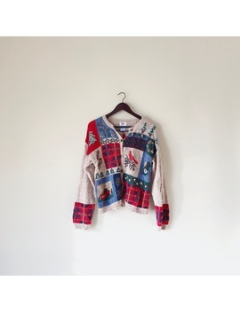 Vintage Christmas Sweater Cardigan by Vintage