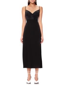 Bruna Lace Detail Midi Dress by Afrm