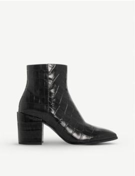 Optimum Mock Croc Patent Leather Ankle Boots by Dune