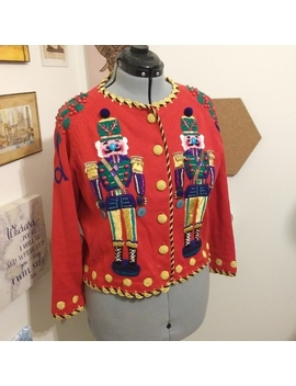 Vintage Nutcracker Christmas Sweater by Michael Simon