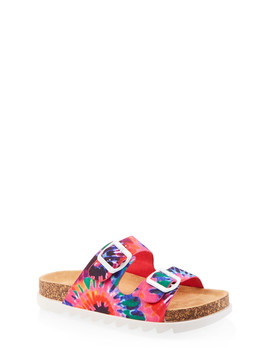 Double Band Footbed Sandals by Rainbow