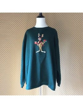 Vintage Tacky Christmas Sweater Rudolph Size Xl by Vintage