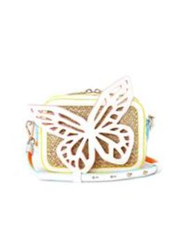 Flossy Butterfly Camera Bag   White by Sophia Webster