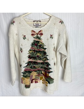Tiara International Vintage Christmas Sweater by Tiara