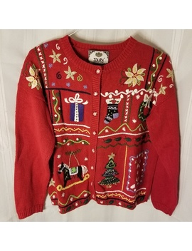 Euc. Tiara Ugly Christmas Sweater. Size M by Tiara