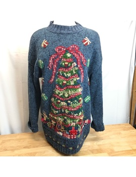 Tiara International Christmas Sweater Women's Sz L by Tiara
