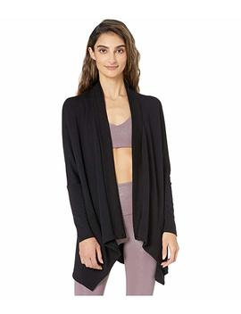 Ribbed Draped Cozy Fleece Cardigan by Beyond Yoga