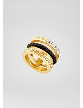Matelassé Triple Ring by Versace
