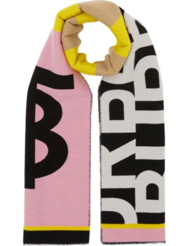 Contrast Logo Scarf by Burberry
