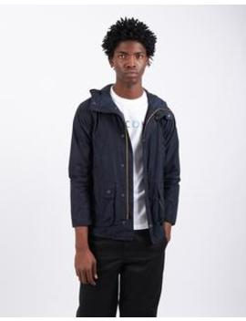 Hooded Bedale Casual Navy by Barbour