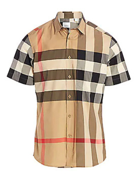 Somerton Vintage Check Stretch Cotton Shirt by Burberry