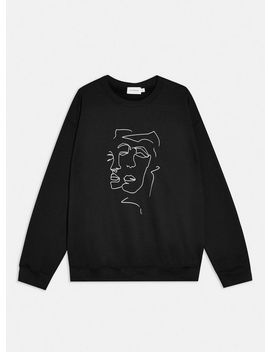 Black Sketch Sweatshirt by Topman