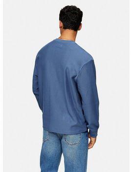 Blue Twill Sweatshirt by Topman