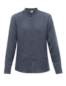 Mandarin Collar Muslin Shirt by Brunello Cucinelli