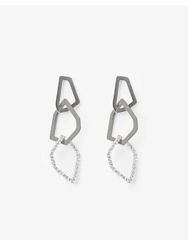 Geometric Drop Earrings by Express