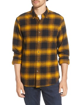 Regular Fit Button Down Flannel Shirt by Alex Mill