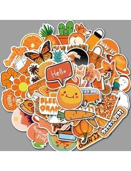 25/50 Pcs Cute Orange Doodle Sticker Waterproof Sticker On Suitcase by Wish
