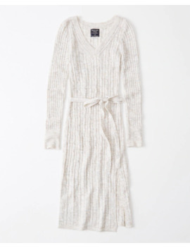 Vestido Estilo Suéter Con Cintura Anudada by Abercrombie & Fitch