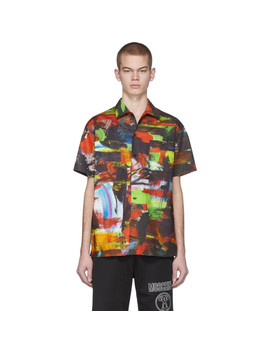 Multicolor Poplin Shirt by Moschino