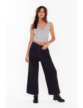 Along For The Wide Leg Denim Jeans by Nasty Gal