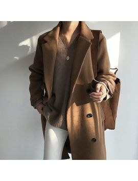 Inpiqi   Double Breasted Long Coat by Inpiqi