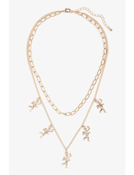 Multi Row Pendant Necklace by Monki