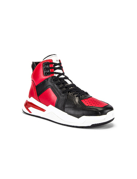 B Ball Leather Sneaker by Balmain
