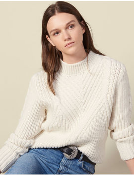 Chunky Knit Wool Sweater by Sandro Paris