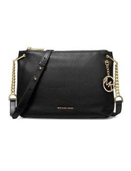 Large Lillie Pebbled Leather Messenger Bag by Michael Michael Kors