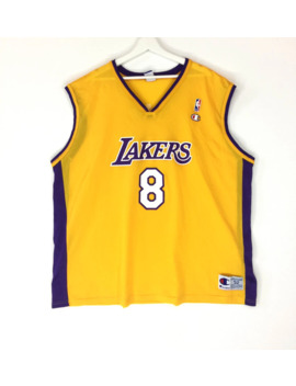 Champion Nba Los Angeles Lakers Kobe Bryant Vintage Basketball Jersey/Retro Fashion/Hip Hop Swag Rap Tee by Vintage  ×  Champion  ×  Nba  ×