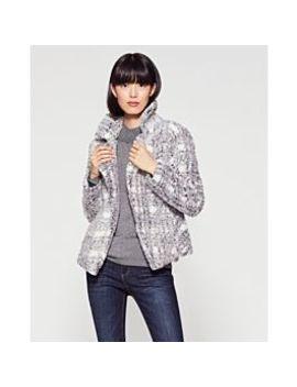 Plaid Print Faux Fur Jacket by Vince Camuto
