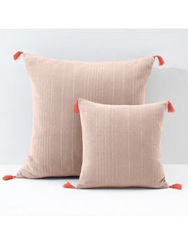 Riad Plain Cushion Cover/Pillowcase With Tassels by La Redoute Interieurs