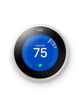 Google Nest Learning Third Generation Thermostat In Copper by Bed Bath And Beyond