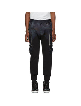 Black & Navy Patrol Camo Cargo Pants by Faith Connexion