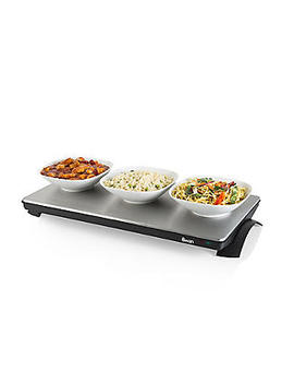 Swan Extra Large Cordless Warming Tray Sw12 Ss by Lakeland