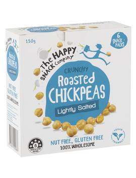 Happy Snack Roasted Chic Peas Lightly Salted 6x25g by Happy Snack