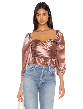 Julia Top In Mauve by Majorelle